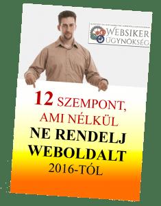 NE rendelj weboldal készítést mostantól a 12 legfontosabb szempont betartása nélkül